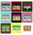 set of of toy shop vector image