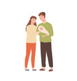 smiling jewish family with toddler baisolated vector image