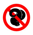 stop ram attention farm animal red prohibitory vector image vector image