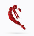 street dance dancer action vector image vector image