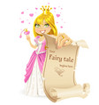 sweetheart princess with banners - your fairy vector image vector image