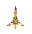 The Eiffel Tower vector image vector image