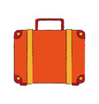 travel suitcase isolated vector image vector image