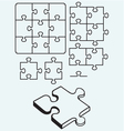 Various puzzle vector image vector image