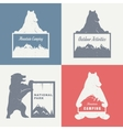 Vintage of Bear vector image