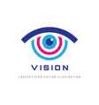 vision - logo template concept vector image