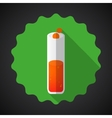 Medical Glossy Flask Flat Icon vector image