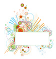 abstract background with colorful circles elements vector image