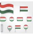 Hungary icon set of flags vector image