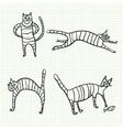 Sketch cat vector image