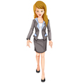 A smiling businesswoman vector image vector image