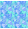 Abstract polygonal blue triangular seamless vector image vector image
