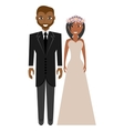 afro american groom and bride suits wedding vector image vector image