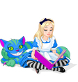 Alice and Cheshire Cat vector image vector image