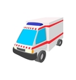 Ambulance car cartoon icon vector image