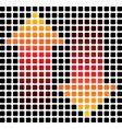 arrow squares vector image vector image