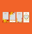 autumn design for social media stories template vector image vector image