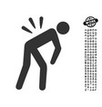 backache icon with work bonus vector image vector image