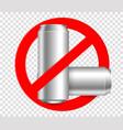 ban bottleno metall bottles vector image