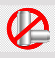 ban the bottleno metall bottles vector image