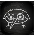 Bird Drawing on Chalk Board vector image vector image