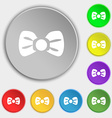 Bow tie icon sign Symbol on eight flat buttons vector image vector image