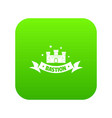 building bastion icon green vector image vector image