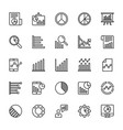 business charts and diagrams line icons 3 vector image