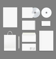 business identity stationary office branding vector image vector image