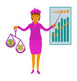 business woman showing presentation vector image vector image