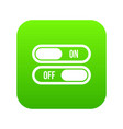 button on and off icon digital green vector image