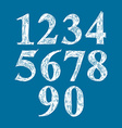 Calligraphic numbers numeration vector image vector image
