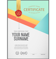 certificate template and frame vector image vector image