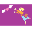 Chasing Love vector image vector image