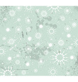 Christmas Vintage Background with drops snowflakes vector image vector image