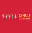 cinco de mayo festival poster with group of vector image vector image