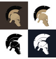 color and silhouette roman helmet vector image vector image