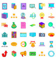 connection icons set cartoon style vector image vector image