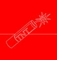 continuous one line drawing dynamite icon concept vector image vector image