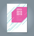 cover annual report 900 vector image vector image