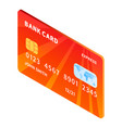 credit bank card icon isometric style vector image vector image