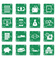 credit icons set grunge vector image