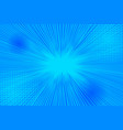explosive bursting bright blue background vector image vector image