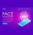 face recognition technology vector image vector image