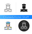 female chief officer icon vector image