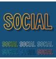 Flat design social vector image vector image