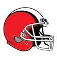 football helmet vector image
