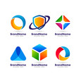 geometric web icon logo element design template vector image