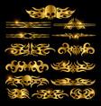 golden racing car decoration vector image