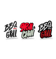 grill chill hand drawn modern brush lettering vector image vector image